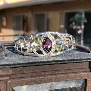 Jewelry - Watermelon Quartz Fairy Sterling Silver Bracelet